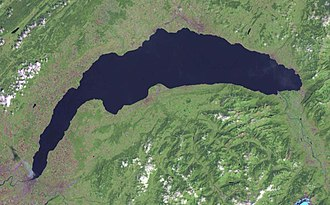Lake Geneva - Satellite image