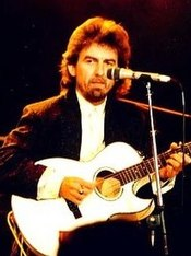 George Harrison performing in 1987