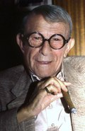 Photo of George Burns in 1987.