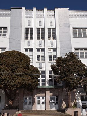 Richmond District, San Francisco - George Washington High School.