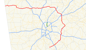 Georgia State Route 20 - Image: Georgia state route 20 map