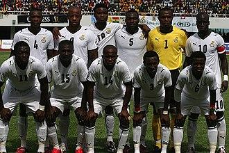 Ghana national football team - Black Stars squad line-up prior to match