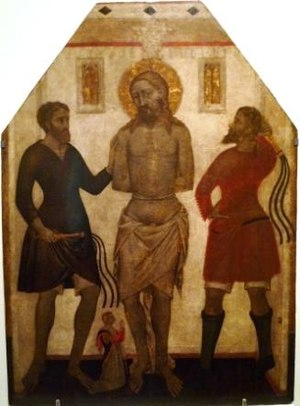 Flagellation of Christ with a donor