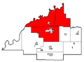 Gibson County Indiana School Areas-North Gibson School District.PNG