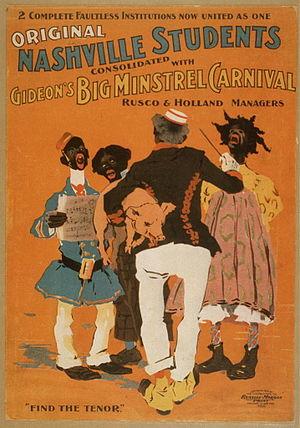 Dan Desdunes - Original Nashville Students consolidated with Gideon's Big Minstrel Carnival
