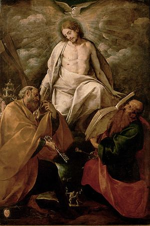 Christ appears to the apostles Peter and Paul