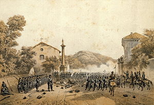 Second Italian War of Independence - Garibaldi leads the troops in the Battle of Varese