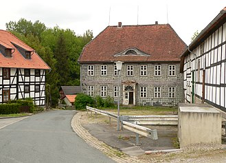 Heber (hills) - Glasworks in the Westerhof Abbey Forest near the Heber