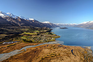 Glenorchy, New Zealand - The head of Lake Wakatipu, Glenorchy