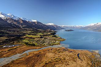 Glenorchy, New Zealand - The head of Lake Wakatipu, Glenorchy