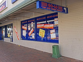 Go-Lo - A Go-Lo store closing down in Wagga Wagga, New South Wales.
