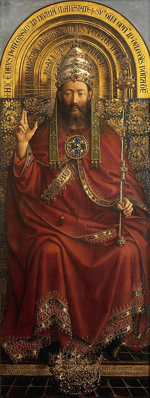 Sacred king - Figure of Christ from the Ghent Altarpiece (1432).