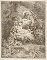 God the Father observing the Virgin and Child, angels to the right MET DP816380.jpg