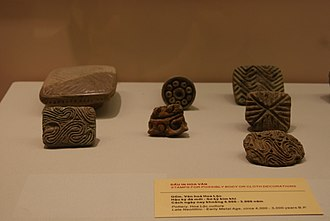 Vietnamese art - Terracotta pieces used to imprint decoration patterns on cloth