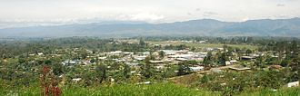 Goroka - Goroka from Mount Sitani (Mt. Kiss)