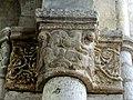 Gournay-en-Bray (76), collégiale St-Hildevert, chœur, 2e grande arcade du sud, chapiteau côté ouest 1.jpg