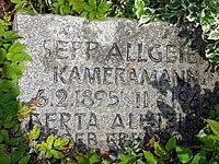 Grab von Kameramann Sepp Allgeier auf dem Friedhof Freiburg-Günterstal 2.jpg