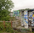 Graffiti covered Samaritans sign - geograph.org.uk - 543491.jpg