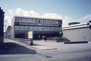 Grampian Television - Grampian's former headquarters at Queen's Cross, Aberdeen in August 1982.