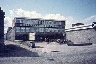 Grampian Television - Grampian's former headquarters at Queen's Cross, Aberdeen in August 1982.