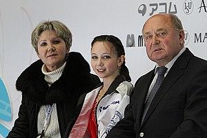 Alexei Mishin - Mishin with pupil Elizaveta Tuktamysheva in 2010