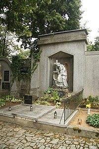 Grave of Jindřich Suza at Starý hřbitov in Třebíč, Třebíč District.jpg