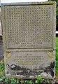 Gravestone of John Renie in Churchyard of Church of St. Mary, Monmouth.jpg