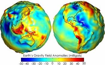 Gravity anomalies on Earth