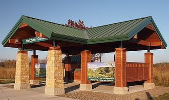 Great River Bluffs State Park - The park's unstaffed welcome center