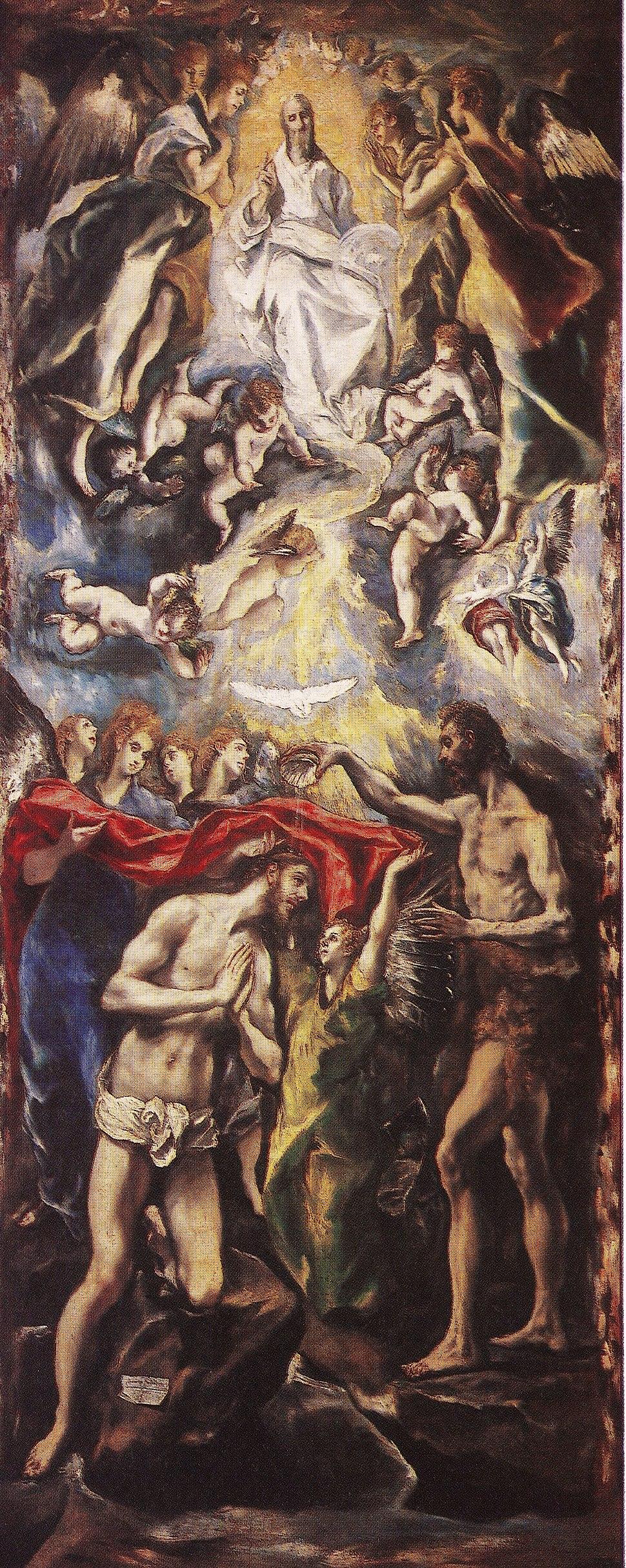 Greco Bautismo de Cristo 1597