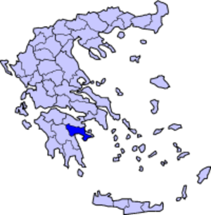 Doric Greek - Map of Argolis