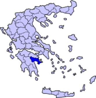 Doric Greek - Map of Argolis