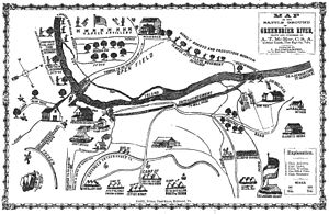 Battle of Greenbrier River - A map of the battle, drawn by A.T. McRae of the Quitman Guards, 1st Regiment Georgia Volunteers
