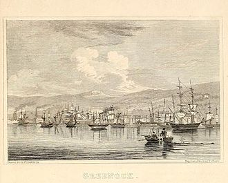 Greenock - The harbour, c. 1838