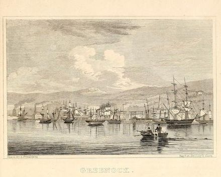 The harbour, c. 1838 Greenock Gazeteer of Scotland.jpg