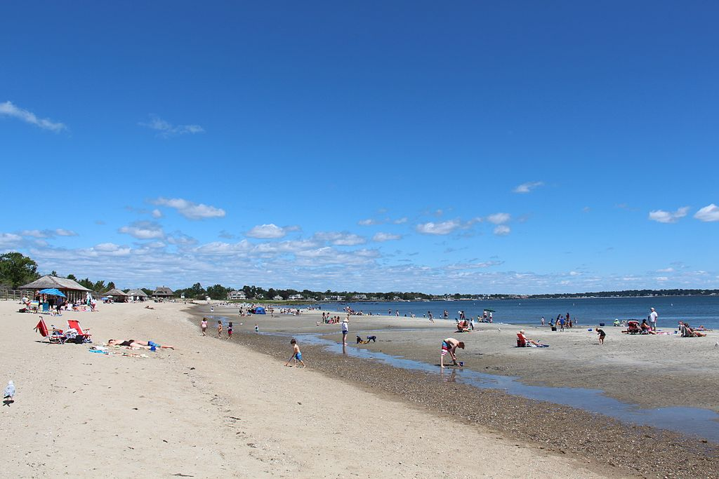 Greenwich Point Park, beach, Connecticut