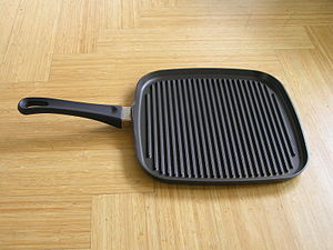 Frying pan - A grill or griddle pan
