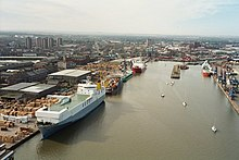 Grimsby Royal Dock taken from Dock tower - geograph.org.uk - 626898.jpg