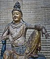 Guanyin Jin or Yuan Dynasty 1115-1234 CE or 1271-1368 CE China wood overlaid with Gesso and Gilt Penn Museum 03.jpg