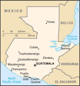 Guatemala - Mappa