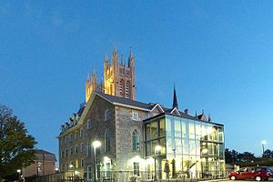 Guelph Civic Museum - Image: Guelph Civic Museum Dusk 2016