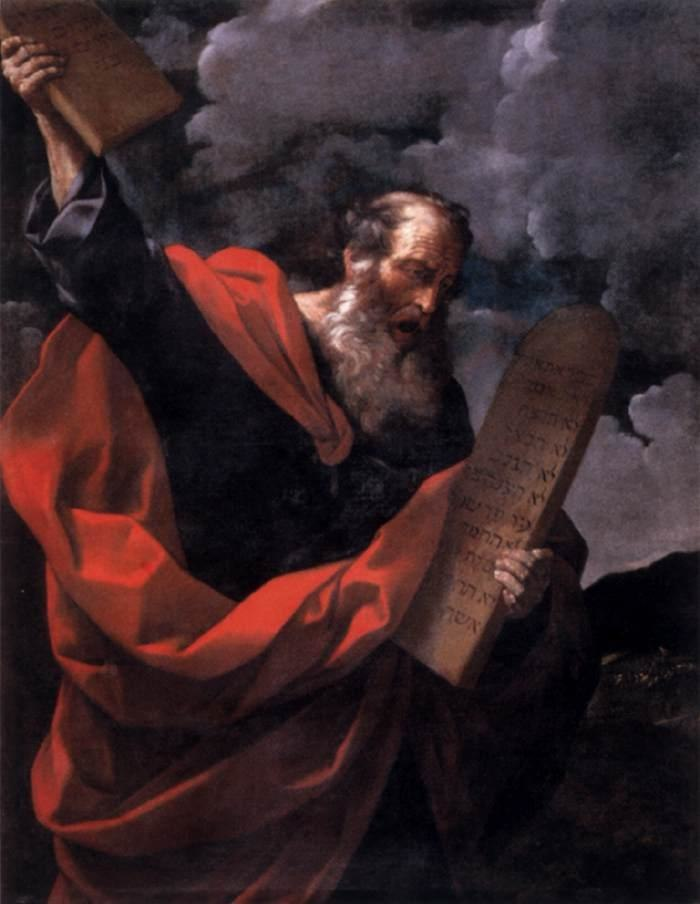 Guido Reni - Moses with the Tables of the Law - WGA19289