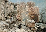 Gustave Courbet - Snow Effect in a Quarry - Google Art Project.jpg