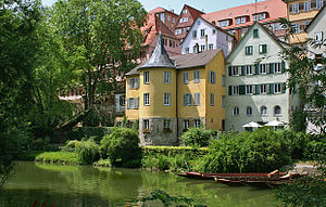 Friedrich Hölderlin - The first floor of the yellow tower (now known as the Hölderlinturm) was Hölderlin's place of residence from 1807 until his death in 1843.