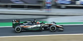 2015 Brazilian Grand Prix - Stopping just twice, Nico Hülkenberg finished in sixth place.