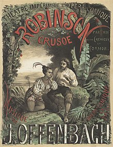 H. Colin - Poster for the première of Jacques Offenbach's Robinson Crusoé.jpg
