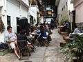 HK 上環 Sheung Wan 太平山街 Tai Ping Shan Street cafe TeaHKa Tea House back lane outdoor sidewalk Jan-2014.JPG