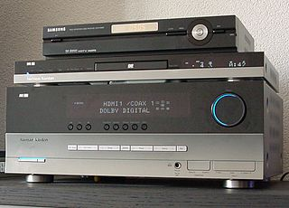 AV receiver Electronics component used in home theater systems