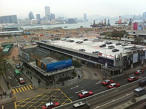 HK Central 文華東方酒店 Mandarin Oriental Hotel view HK Jockey Club Edinburgh Place Carpark Feb-2012.jpg