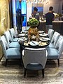 HK ICC Imperial Cullinan showflats 西九龍 瓏璽 房展 示範單位 Dinning room group table chairs July-2011.jpg